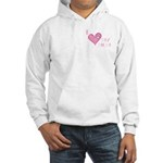 I Love Heart My Mom Mother's Pink Hooded Sweatshir