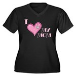 I Love Heart My Mom Mother's Pink Women's Plus Siz