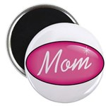 Pink Mom is my Idol Logo Magnet