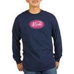 Pink Mom is my Idol Logo Long Sleeve Dark T-Shirt