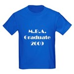 MBA Graduate 2009 Kids Dark T-Shirt