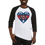 Heart Wonder Mom Mother's Baseball Jersey