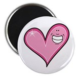 Pink Heart Cartoon Smile Smiley Magnet