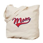 Baseball Style Swoosh Mom Tote Bag