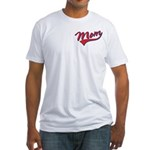 Baseball Style Swoosh Mom Fitted T-Shirt