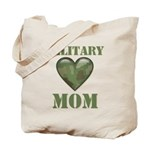 Military Mom Camouflage Camo Heart Tote Bag