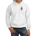 Pink Soccer Mom Cute Girl Art Hooded Sweatshirt