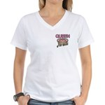 Queen of the Castle Crown Mother Women's V-Neck T-