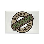 Mom Name Brand Apparel Logo Rectangle Magnet