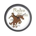 Rodeo Mom Wester Cowboy Cowgirl Wall Clock