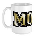 Golden Mom Name Gold Letters Large Mug