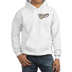 Baseball Swoosh Mom Mother's Hooded Sweatshirt