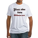 Personalized Customized Fitted T-Shirt