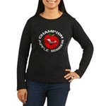 Apple Bobber Women's Long Sleeve Dark T-Shirt