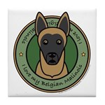 Love My Malinois Tile Coaster