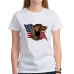 Chocolate Lab Flag Women's T-Shirt