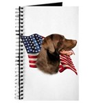 Chocolate Lab Flag Journal