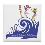 Tsunami Wave Walkers Tile Coaster