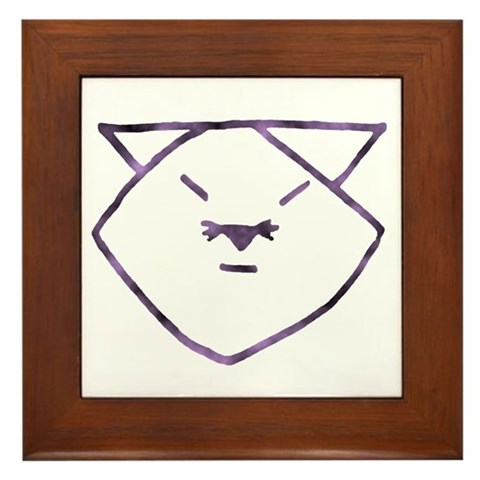 pictures of anime cats. Purple Anime Cats Framed Tile