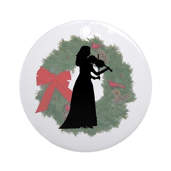 Lady Violinist Christmas Ornament