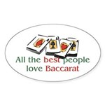 Baccarat Oval Sticker