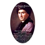 Jean Jacques Rousseau: Education Oval Sticker