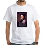 Jean Jacques Rousseau: Education White T-Shirt