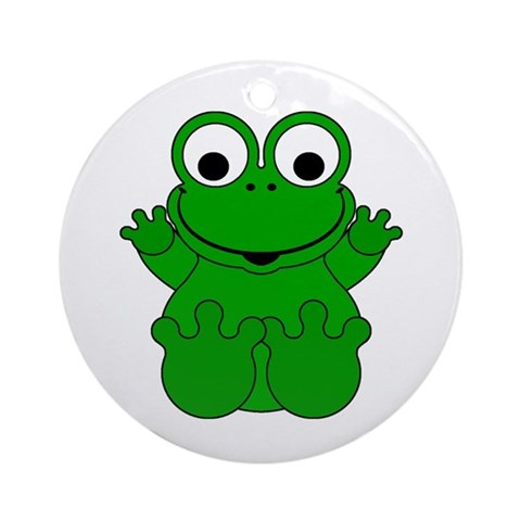 Cartoon Pics Of Frogs. Cute Cartoon Frog Ornament