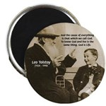 "Leo Tolstoy: God Quotes 2.25"" Magnet (10 pack)"
