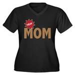 New Mom Mother First Time Women's Plus Size V-Neck