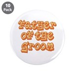 "Father of the Groom 3.5"" Button (10 pack)"