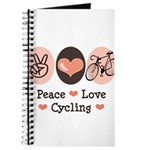 Bicycle Peace Love Cycling Journal