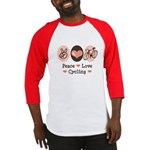 Bicycle Peace Love Cycling Baseball Jersey