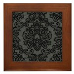 Gothic Lace Damask Framed Tile