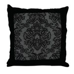 Gothic Lace Damask Throw Pillow