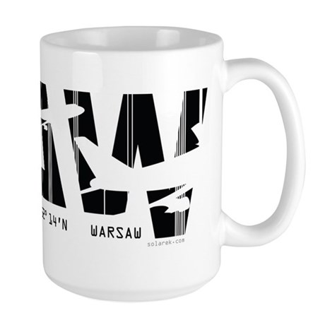 Warsaw Poland WAW Air Wear Airport Large Mug