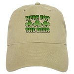 Here for the Beer Shamrock Cap
