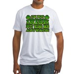 I'm Not Irish but Kiss Me Anyways Shamrock Fitted