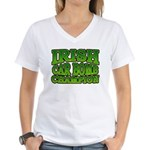 Irish Car Bomb Champion Shamrock Women's V-Neck T-