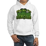 Kiss Me I'm Single Shamrock Hooded Sweatshirt