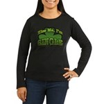 Kiss Me I'm Single Shamrock Women's Long Sleeve Da