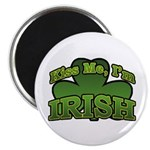 "Kiss Me I'm Irish Shamrock 2.25"" Magnet (10 pack)"