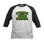 Irish You Were Beer Shamrock Kids Baseball Jersey
