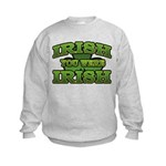 Irish You Were Irish Shamrock Kids Sweatshirt