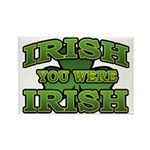 Irish You Were Irish Shamrock Rectangle Magnet (10