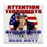 Uncle Sam Anti Terrorist Tile Coaster