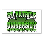 St. Patrick University Drinking Team Sticker (Rect