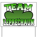 Team Leprechaun Yard Sign