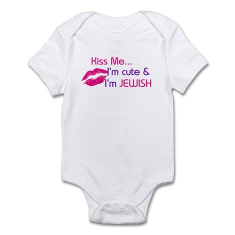 KISS ME I'M JEWISH Infant Bodysuit