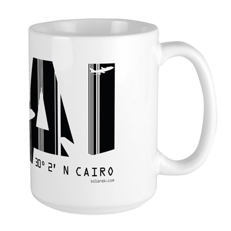 Cairo Egypt Air Wear CAI Large Mug